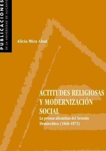 actitudes religiosas y modernización social - Publicaciones de la ...