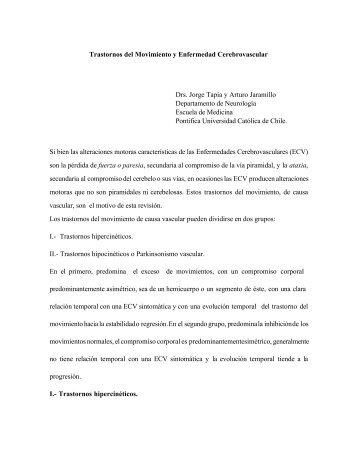 Trastornos del Movimiento y Enfermedad Cerebrovascular Drs ...