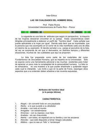 Las 100 Cualidades del Hombre Ideal - Universidad Interamericana ...