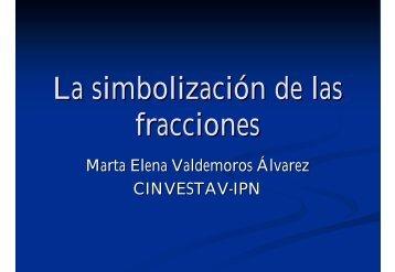 La simbolización de las fracciones - Departamento de Matemática ...