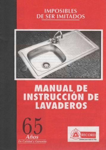 Manual de instruccion para instalación de lavaderos