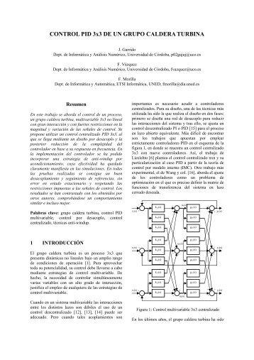 CONTROL PID 3x3 DE UN GRUPO CALDERA TURBINA - CEA