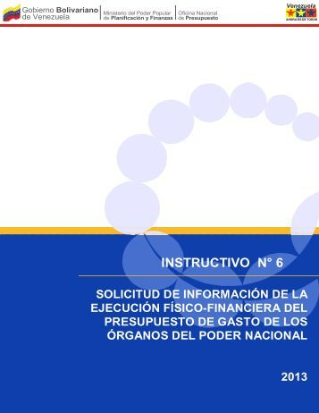 Instructivo Nº 06 - Oficina Central de Presupuesto