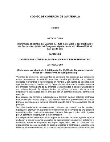 CODIGO DE COMERCIO DE GUATEMALA