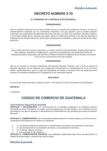 Descarga Código Comercio de Guatemala - Derecho y Leyes