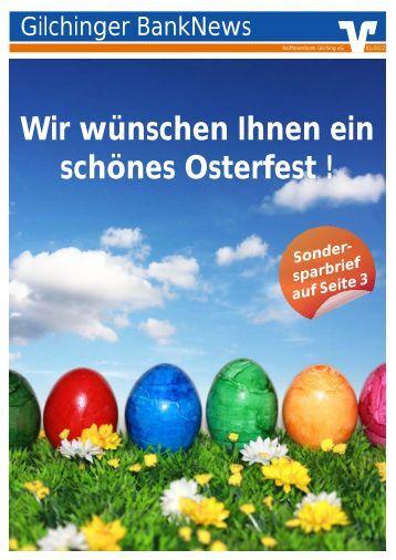 Gilchinger BankNews 01/2012 - Raiffeisenbank Gilching eG