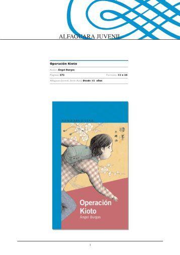 Operación Kioto - Alfaguara
