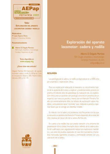 Exploración del aparato locomotor - Asociación Española de ...
