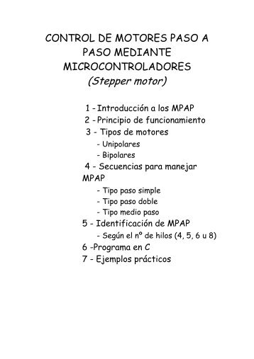 control de motores paso a paso mediante microcontroladores