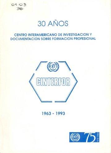 1963-1993: 30 años de Cinterfor - OIT/Cinterfor