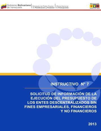 INSTRUCTIVO N° 7 - Oficina Central de Presupuesto