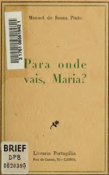 Para onde vais, Mari