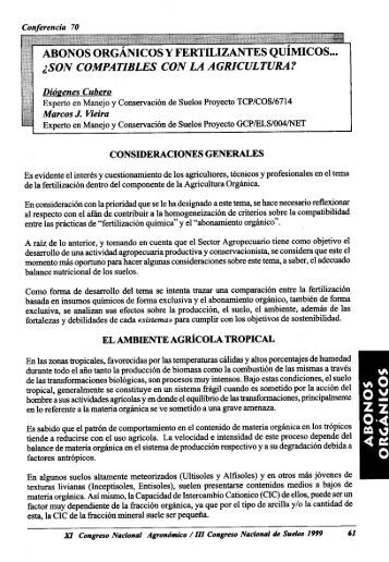 ABONOS ORGANIC OS Y FERTILIZANTES QuiMIcos... ;,SON ...