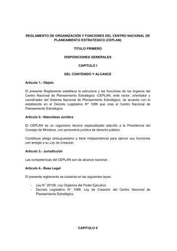 título primero: disposiciones generales - Ceplan