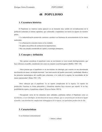 48 POPULISMO - Web del Profesor