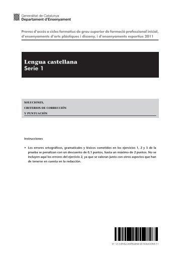 Lengua castellana Serie 1