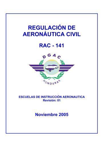 Rac 141 Escuelas de Instrucción Aeronáutica - DGAC