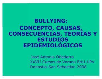 BULLYING: CONCEPTO, CAUSAS, CONSECUENCIAS, TEORÍAS Y ...