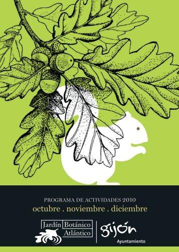 Programa trimestral - Amigos del Jardín Botánico de Gijón