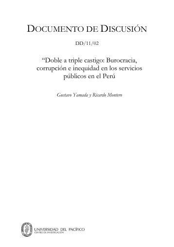Doble a triple castigo: Burocracia corrupción e inequidad en los ...