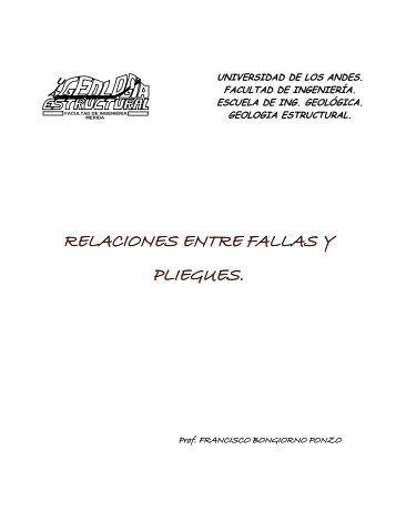 relaciones entre fallas y pliegues. - Web del Profesor - Universidad ...