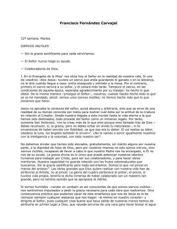 Francisco Fernández Carvajal - Homiletica.org