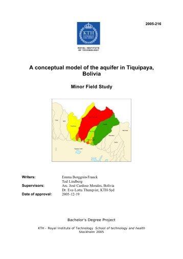 A conceptual model of the aquifer in Tiquipaya, Bolivia - KTH