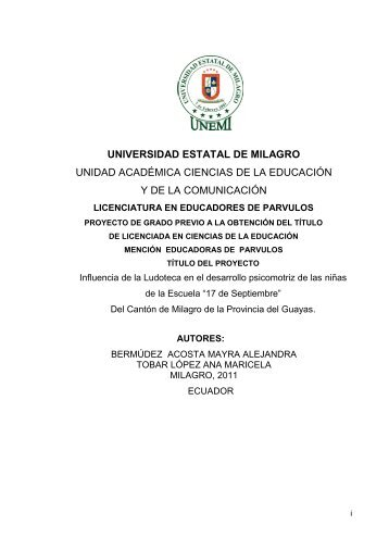 166 Influencia de la Ludoteca.pdf - Repositorio de la Universidad ...