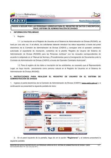 registro de datos e inscripcion personas juridicas.pdf - Cadivi