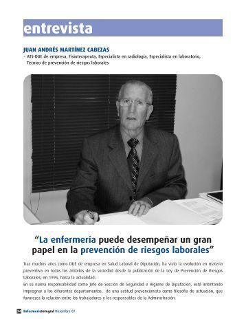 entrevista - Colegio de Enfermería de Valencia