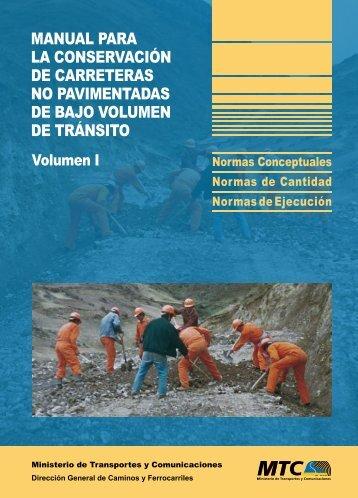 Volumen I - Ministerio de Transportes y Comunicaciones