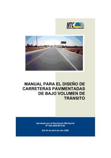 manual para el diseño de carreteras pavimentadas de bajo volumen ...