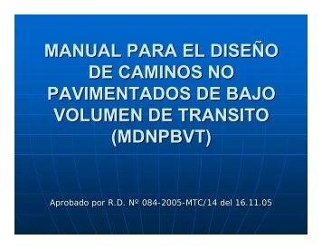 manual para el diseño de caminos no pavimentados de bajo ...