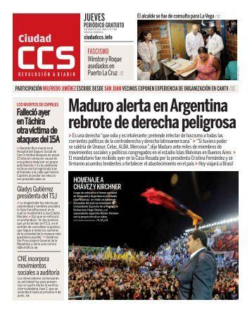 Maduro alerta en Argentina rebrote de derecha peligrosa