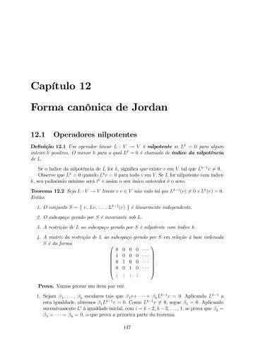 Capítulo 12 Forma canônica de Jordan
