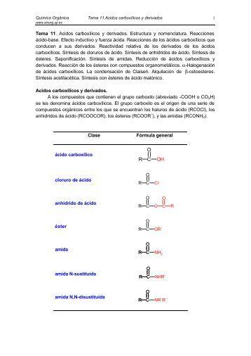 Acidos carboxílicos y derivados - Grupo de Sintesis Organica ...