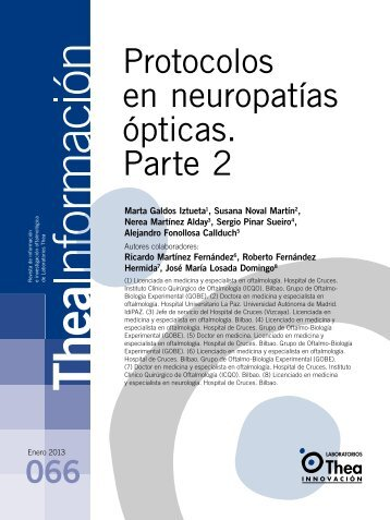 Protocolos en neuropatías ópticas. Parte 2 - Laboratorios Thea