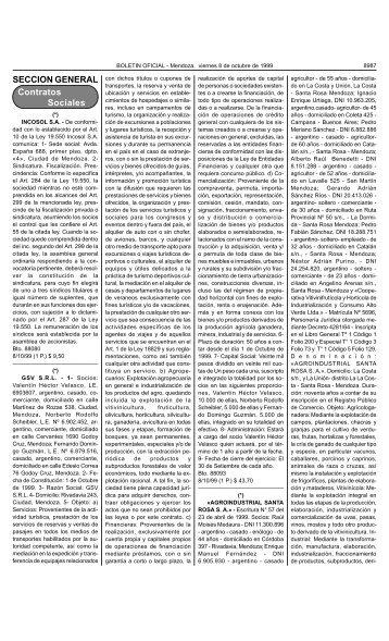 Bolet n Oficial N 26004 del 8/10/1999 - Gobierno de Mendoza