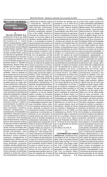 Boletin Oficial N 26277 del 08/10/2000 - Gobierno de Mendoza