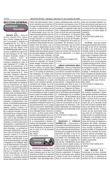 Boletin Oficial N 26282 del 15/11/2000 - Gobierno de Mendoza