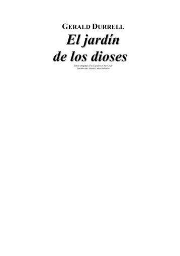 El jardín de los dioses.pdf - IES Joaquín Costa