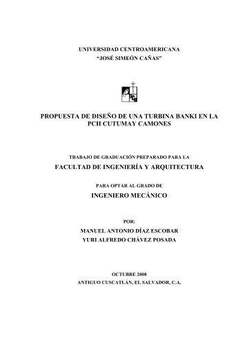 Oct-2008 Propuesta de diseño de una turbina Banki en la PCH ...