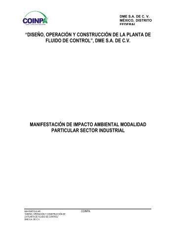 """""""DISEÑO, OPERACIÓN Y CONSTRUCCIÓN DE ... - sinat - Semarnat"""