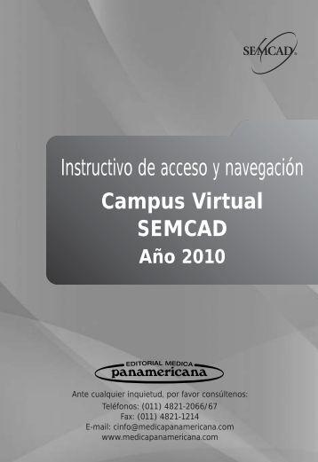 Instructivo de acceso y navegación - SEMCAD Sistema de ...