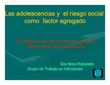 Las adolescencias y el riesgo social como factor agregado