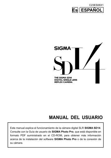 MANUAL DEL USUARIO - Sigma