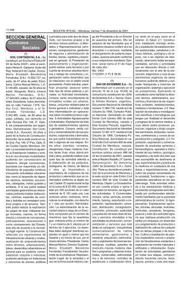 Boletin Oficial N 26546 del 07/12/2001