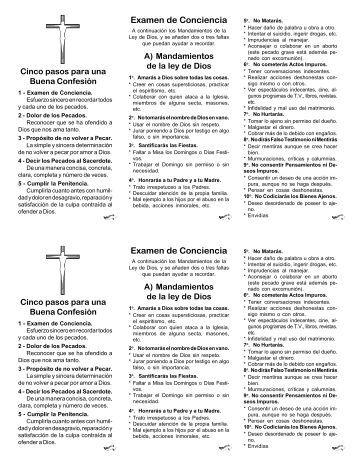 Examen de Conciencia - El que busca encuentra