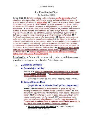 06-032 familia de Dios (s).pdf - David Cox