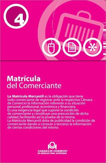 Matrícula comerciante - Cámara de Comercio de Medellín